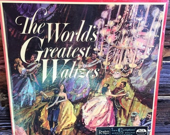 3 Record Set, Worlds great Waltzes, Books Music, Movies, Vinyl LP, Record Set