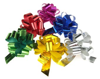 Metallic Pull Bows for Gift-wrapping, 2-Piece