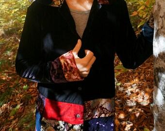 SALE Funky patchwork velvet blazer