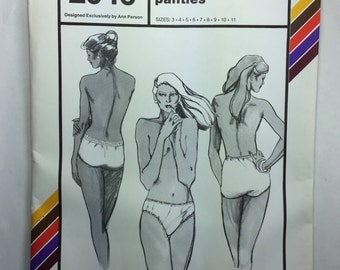 Panties, Stretch & Sew 2046 Brief, Hipster and Bikini Panties Pattern Sizes 3,4,5,6,7,8,9,10,11 uncut by Ann Person
