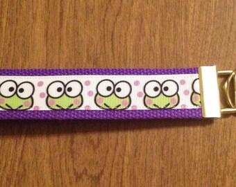 Keroppi Hello Kitty Key Chain Zipper Pull Wristlet