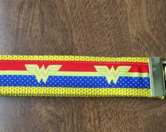 Wonder Woman Key Chain Wristlet Zipper Pull