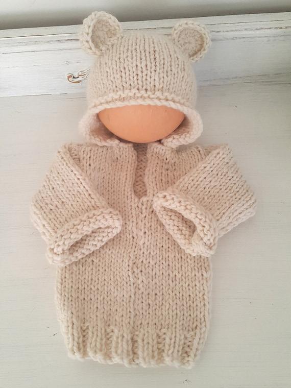 Knitting Pattern Bear Hoodie : Baby Bear Hoodie Pattern - 0-6 months hoodie pattern ...