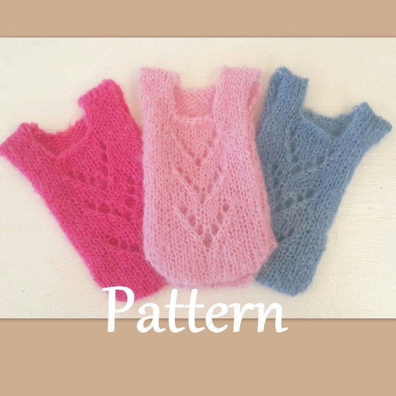 Knitting Pattern Baby Jumpsuit : Baby Romper knitting PATTERN baby girl bodysuit pattern