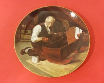 Norman Rockwell, Grandpa's Gift Collector Plate, Edwin M Knowles