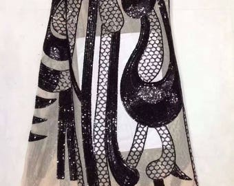 5yards/lot 130cm 8colors Sparkly sequins on mesh Embrodiery Lace Fabric For Clothes/evening dress lace fabric