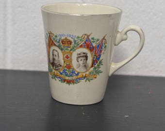 King George V and Queen Mary Silver Jubilee Mug 1910-1935 *VINTAGE* (E48)