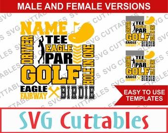 Golf SVG, Golf Subway Art SVG, DXF, Vector, Digital Cut File