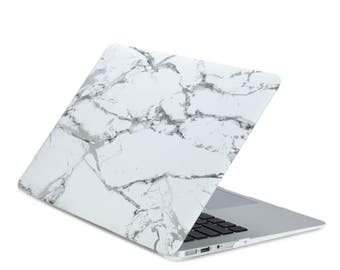 "Air 13-Inch White Marble Rubberized Hard Case for MacBook Air 13"" Model: A1369 and A1466"