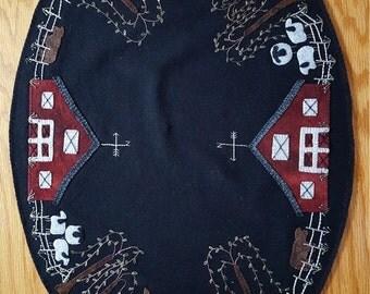 Summer on the Farm - Handmade Wool Mat