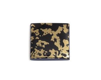 Black Goldenite Quartz Square Cabochon Loose Gemstone 1A Quality 13.7mm TGW 6.50 cts.