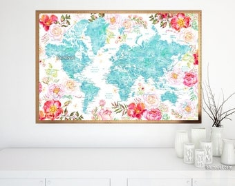 X PRINTABLE World Map With US States Black White World - Map of us states black and white