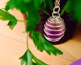 Amethyst Dream Swirl Necklace