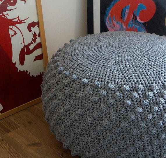Canadian Inspired Home Decor Canada Pillow Via Etsy: STUFFED Crochet Pouf Poof Ottoman Footstool Home Decor