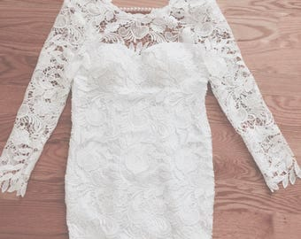 Venice Lace Wedding Dress, Open Back Wedding Dress, Custom Wedding Dress, Wedding Gown, Bridal Dress, Small Lace Dress, Wedding Lace Dress