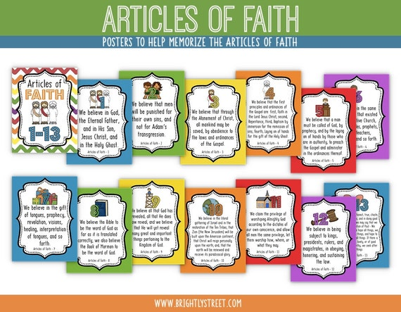 Articles of Faith Posters