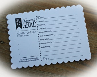 READY TO SHIP-Graduation Advice Cards, Grad Party Idea-sets of 5 cards-Grad Party,Graduation Party Idea-Wishes for the Grad SCgrad105