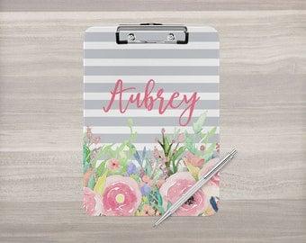 Personalized Clipboard - Monogram Clipboard - Floral Clipboard - Nurse Clipboard - Teacher Gift - Coach Clipboard - Double Sided Clipboard