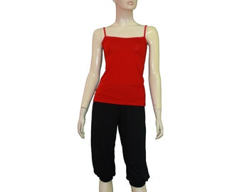 Yoga tank top Jersey red cami Sportwear dancewear sleeveless shirt