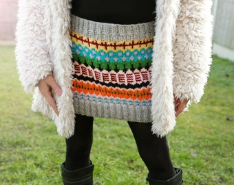 Hand knitted skirt, Mini wool skirt, Handmade mini wool skirt