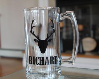 Personalized Beer Mug - Deer