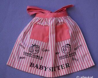 Vintage Barbie Baby-Sits Apron #953, NM
