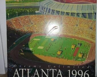 RARE FIND - Aramark 1996 Olympic Summer Games Atlanta GA promo poster on original foamboard back Foodservice promotional advert