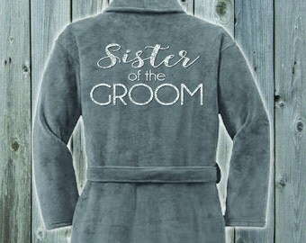 Sister of the Groom Plush Terrycloth Robe