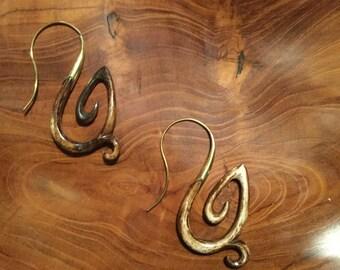Bone and brass earing