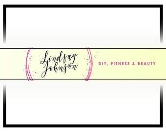 Custom Youtube Banner Design | Vlog Header Design | Beauty Vlog Cover | Fashion Youtube Cover Design | Youtube Header Design | Youtube Page