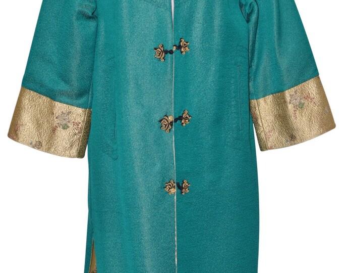 Vintage Estate Silk Oriental Robe Kaftan Opera Coat