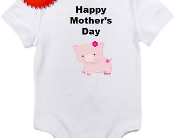 Happy Mothers day bodysuit onesie you pick size newborn 0-3 3-6 6-12 18 24 month months 2t 3t 4t 5t