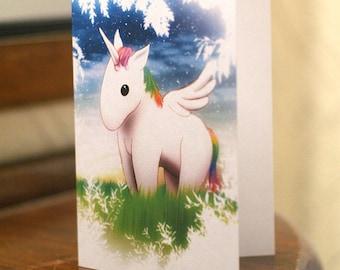 Magic Unicorn Greetings Card