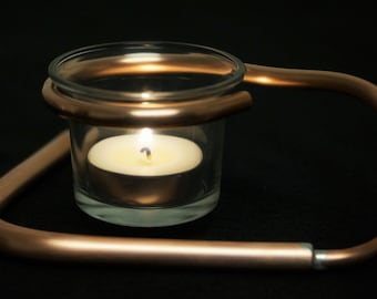 One Copper Votive Candle Holder