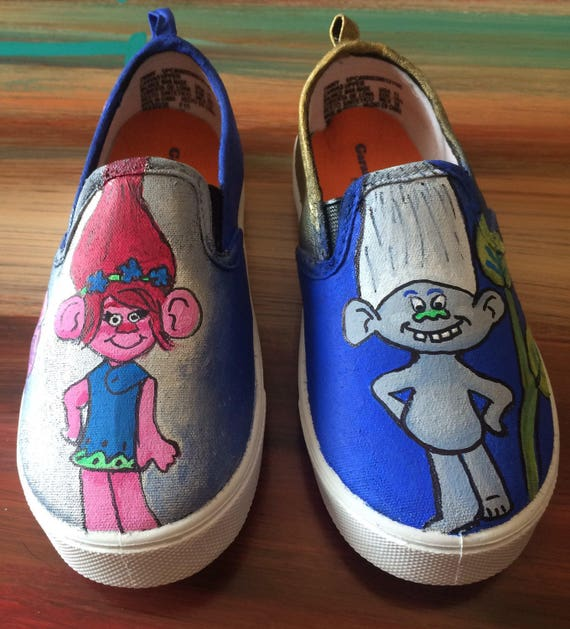 Trolls Branch and Poppy Kids Slip on Shoes