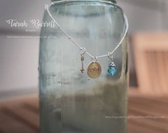 Handmade Engraved Stamped Name Necklace