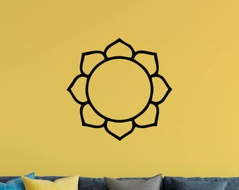 Lotus Flower Wall Decal, Flower, Free Shipping