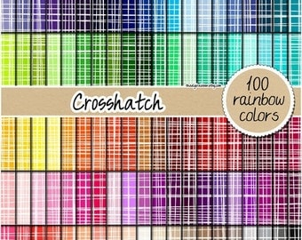SALE 100 crosshatch digital paper fabric digital paper rainbow digital scrapbooking pattern crosshatch print 12x12 pastel neutral bright dar