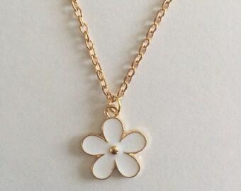 Daisy necklace, choice color