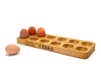 Solid Wooden Egg Rack, Holder, Birthday or Wedding gift