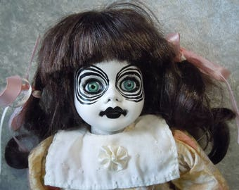 Altered doll with Crazy Eyes #91 no doll stand included