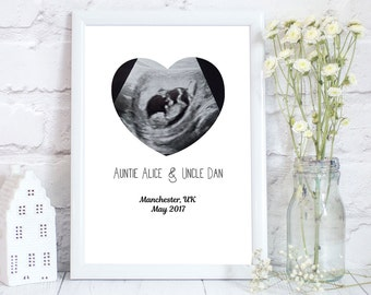 baby scan announcement, pregnancy announcement, Pregnancy photo prop, baby scan, baby photo prop, baby poster, Way to announce, PRINT ONLY