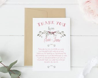 baby thank you card, Thank you cards baby, thank you cards baby shower, baptism thank you card, baby thank you notes, baby stationery