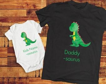 father son matching shirts, daddysaurus shirt, dinosaur shirt, Daddy son matching shirt, Dad and baby matching shirts, kids dinosaur shirt