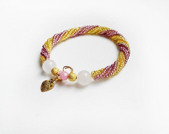 Gold&Pink bracelet