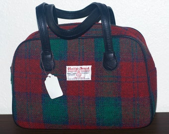 Glen Appin Eden Square Harris Tweed Bag - Lindsay Tartan. Made in Scotland