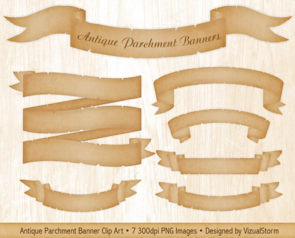 Vintage Clip Art - Wonderful Blank Banners - Ribbons - The ...