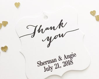 Thank You Favor Tags, Thank You Wedding Favor Tags, Thank You Hang Tags  (FS-009)