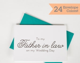 Father in Law Card, To My Father In Law on my Wedding Day, Wedding Cards (WC072-PL)