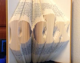 "Portland ""PDX"" Book Sculpture"